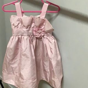 Girls 18 Month Cherokee pinstripe pink Sundress